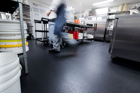 commercial kitchen safety floor
