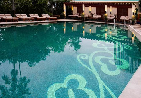 Mosaic Tile Design Swimming Pool