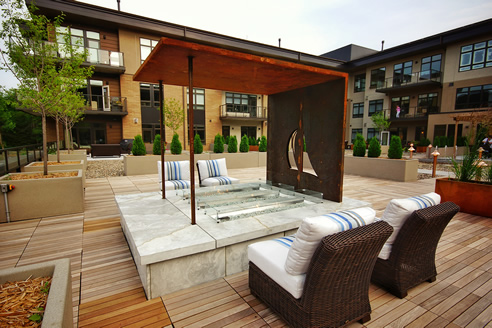 outdoor gas fires