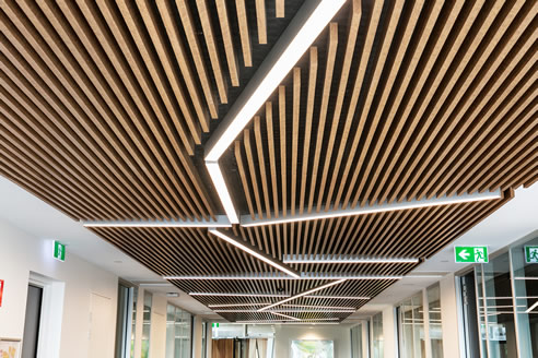 Acoustic Timber Slat Ceiling Panels Atkar
