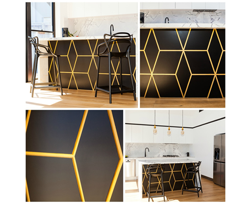 cubes large decorative panel kitchen island bench