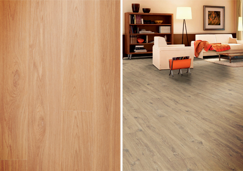Wideboard Oak laminate from Embelton