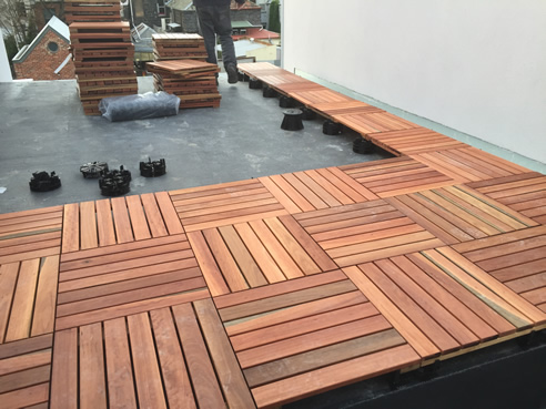 Supports For Modular Decking Khd Landscape Engineering
