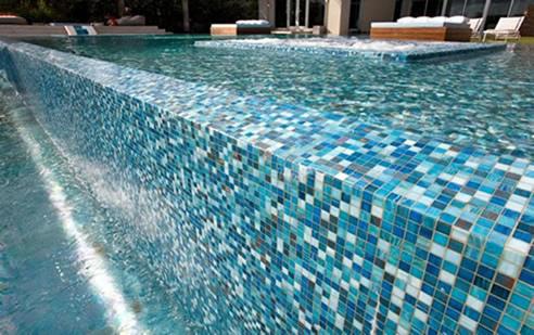 Elegant Glass Mosaic Pool Tiles | MDC Mosaics and Tiles