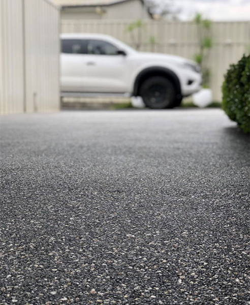 Charcoal Harvest Concrete Driveway Overlay