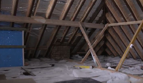 Before the Dust Proof Attic Transformation