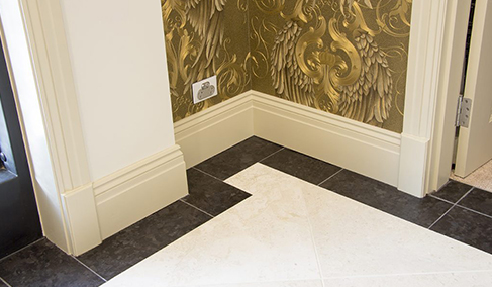 Bevelled Skirting Blocks