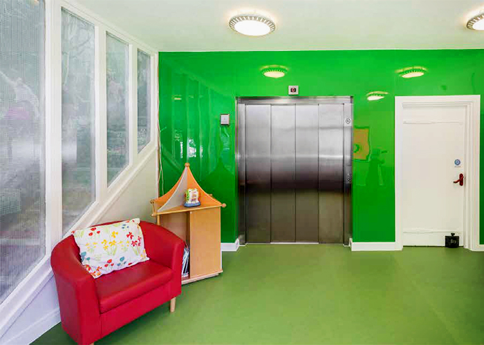 Floors & Walls in Bright Colours for Haven House from Altro