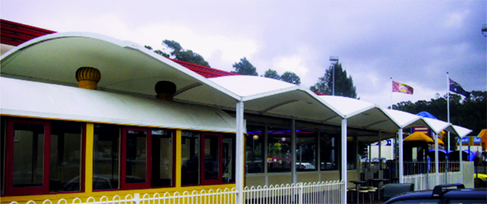 Herculite Reinforced PVC Fabrics for Awnings from Nolan Group