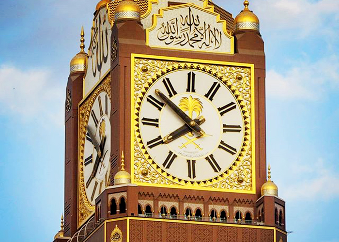 Gold Leaf Glass Mosaics for Iconic Clock Tower by TREND