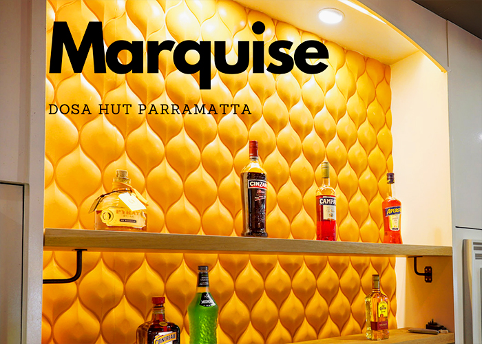 Marquise Designer Wall Panels for Dosa Hut from 3D Wall Panels