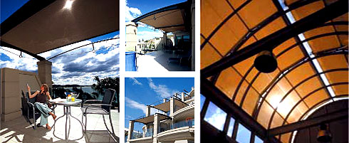 Control the sun with the convenience of Somfy automation & the style of Helioscreen sunshades.