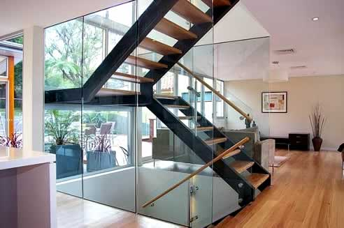 Floating Staircase By Ironbark Blacksmithing For The Contemporary Home