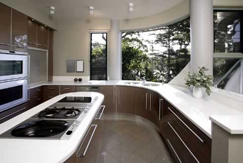 Wonderful Kitchens Complementary Curved Kitchen