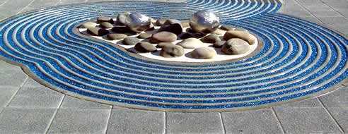 Crystalpave crushed glass decorative paving by mps paving for Dsb landscape architects