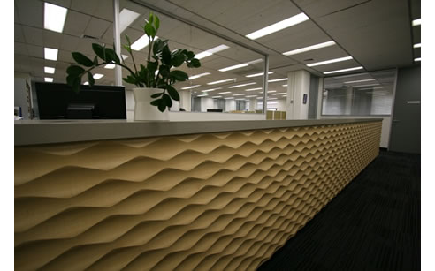 3d Wall Panels Feature In College Of Law Reception Area