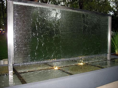 Custom Slumped Glass Water Features Profile Glass Kilsyth