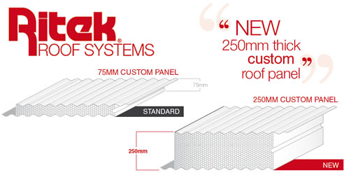Custom Roof Panel 250mm Thick From Ritek
