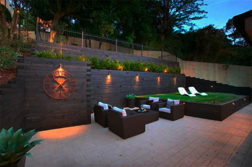 Three-Terrace Outdoor Living Space from Iconic Landscaping