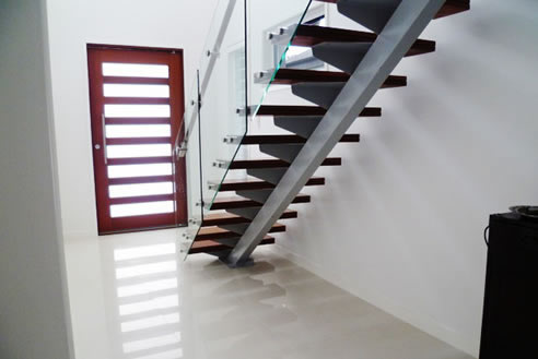 Merveilleux Steel Mono String Stair Case