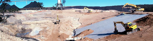 geosynthetic clay liner construction site