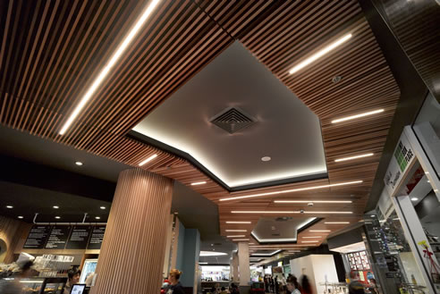 Cedar Slat Ceilings Supawood Architectural Lining Systems