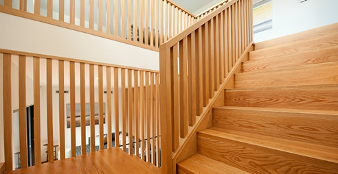 American Oak Timber Staircase S Amp A Stairs