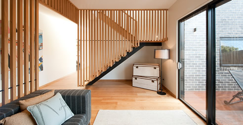 timber screen stair balustrade