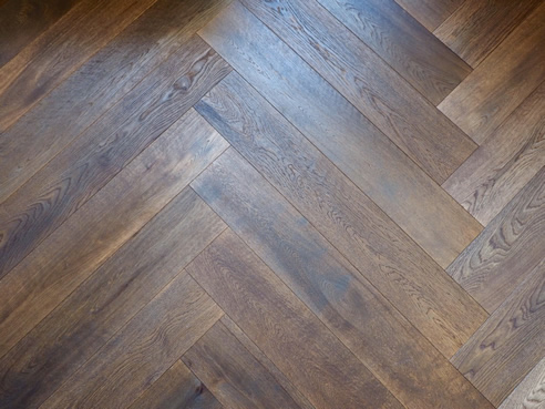 mink grey herringbone floor
