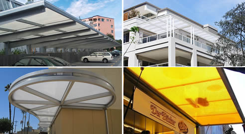 Polycarbonate Commercial Awnings