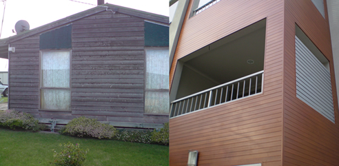 difference between real wood and DecoWood aluminium cladding
