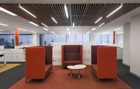 SUPATILE SLAT timber finished slatted ceiling tile
