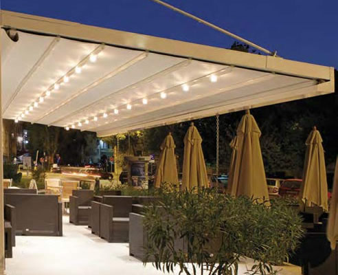Waterproof Retractable Roof Awning Undercover Blinds