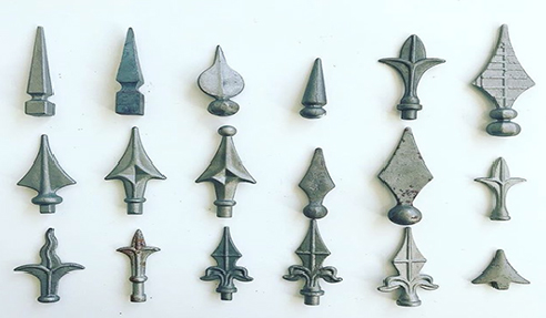 Unique Wrought Iron Spear Components