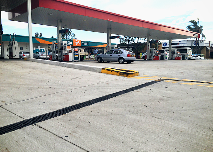 Slotted Heelguard Grates for Service Stations from Hydro